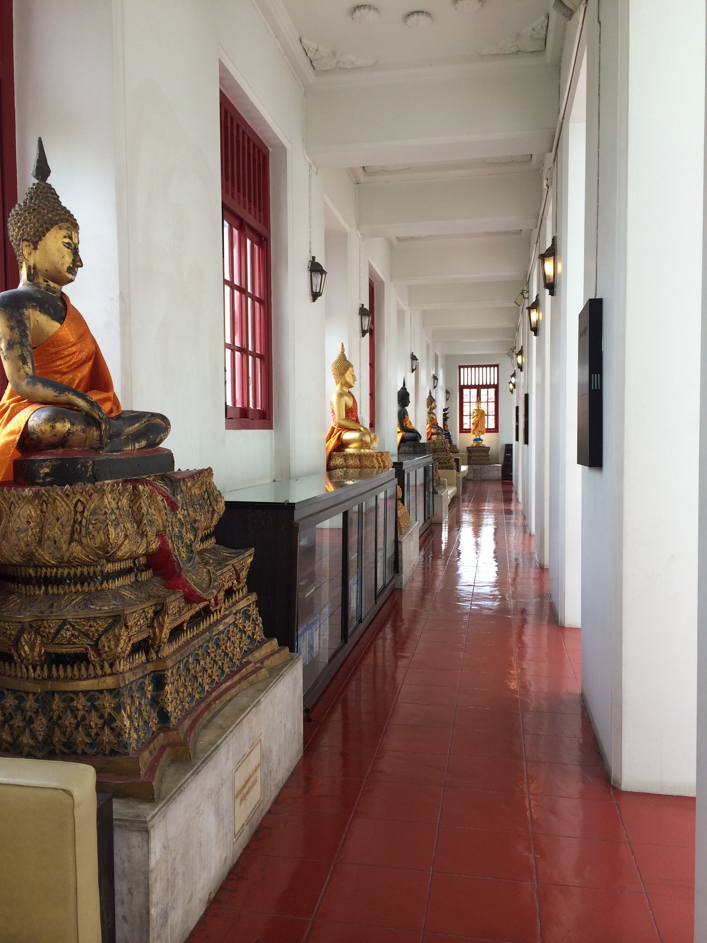 Buddhas in Bangkok, Thailand Temple