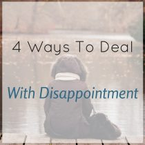 deal with disappointment