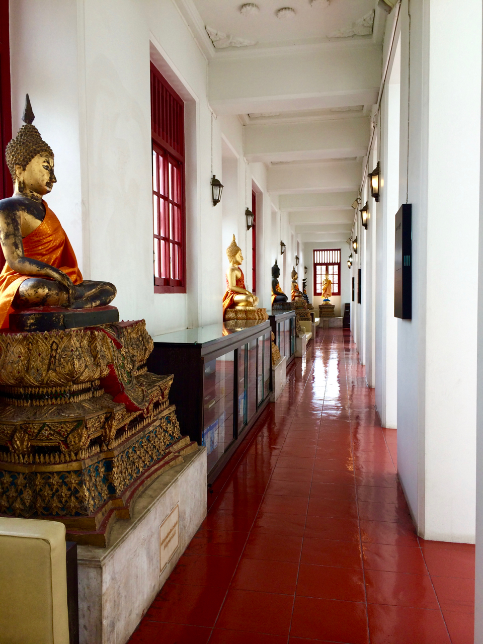 Buddha's inside a temple