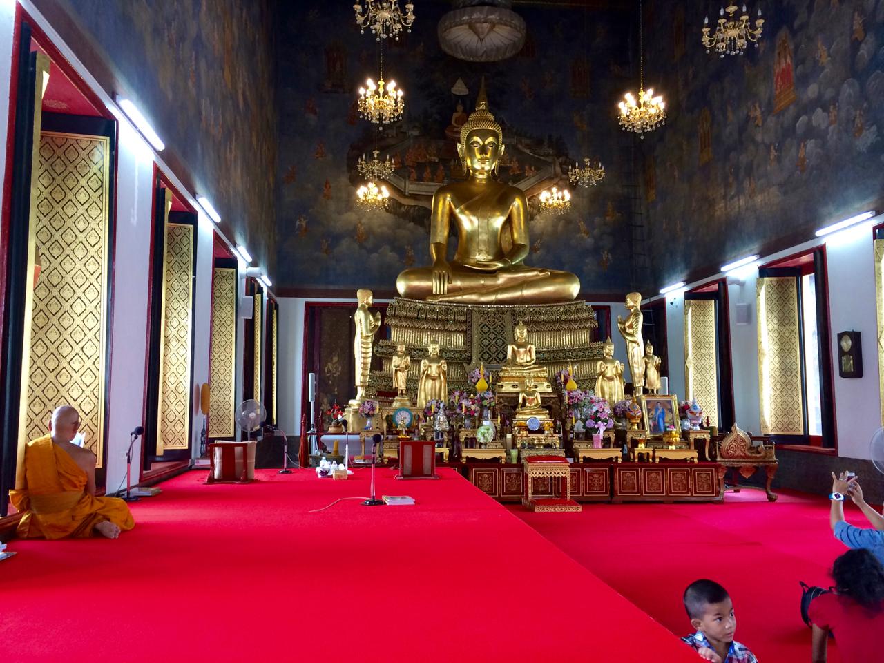 Buddha in Wat Saket Bangkok, Thailand