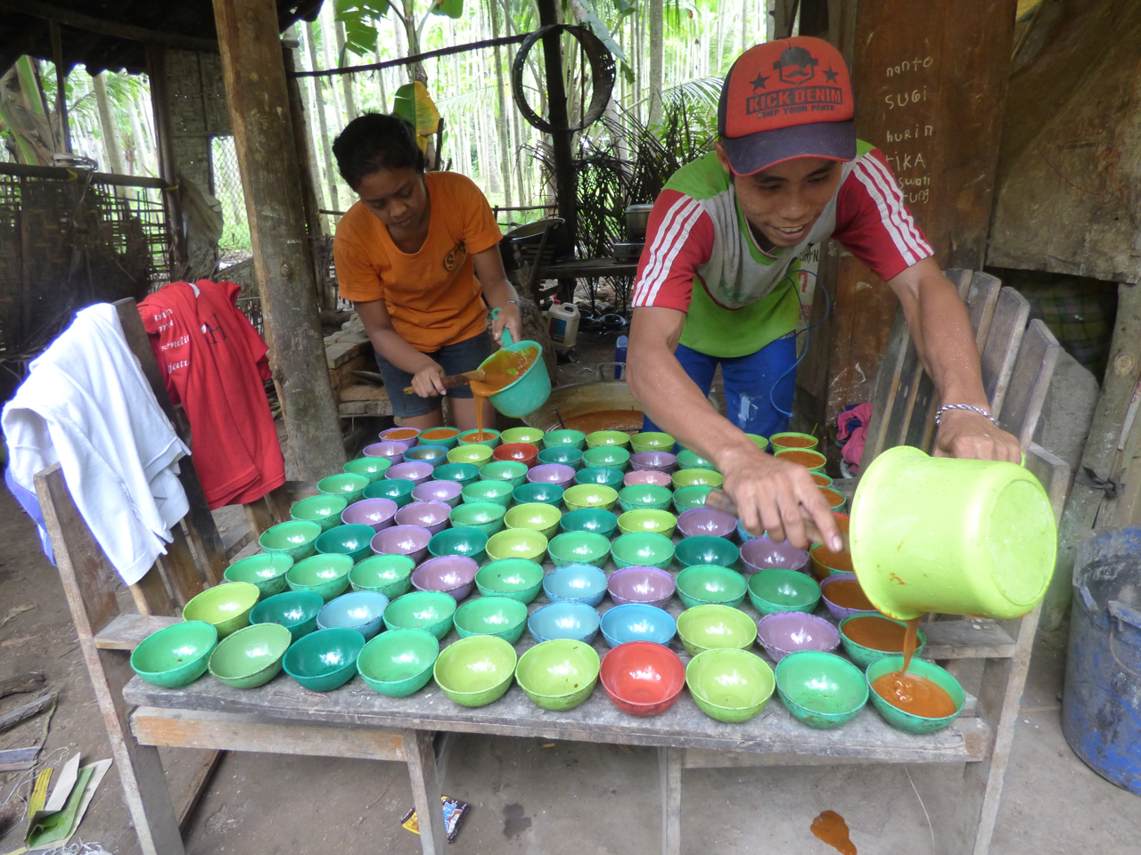 Locals making red sugar in Banyuwangi, Indonesia