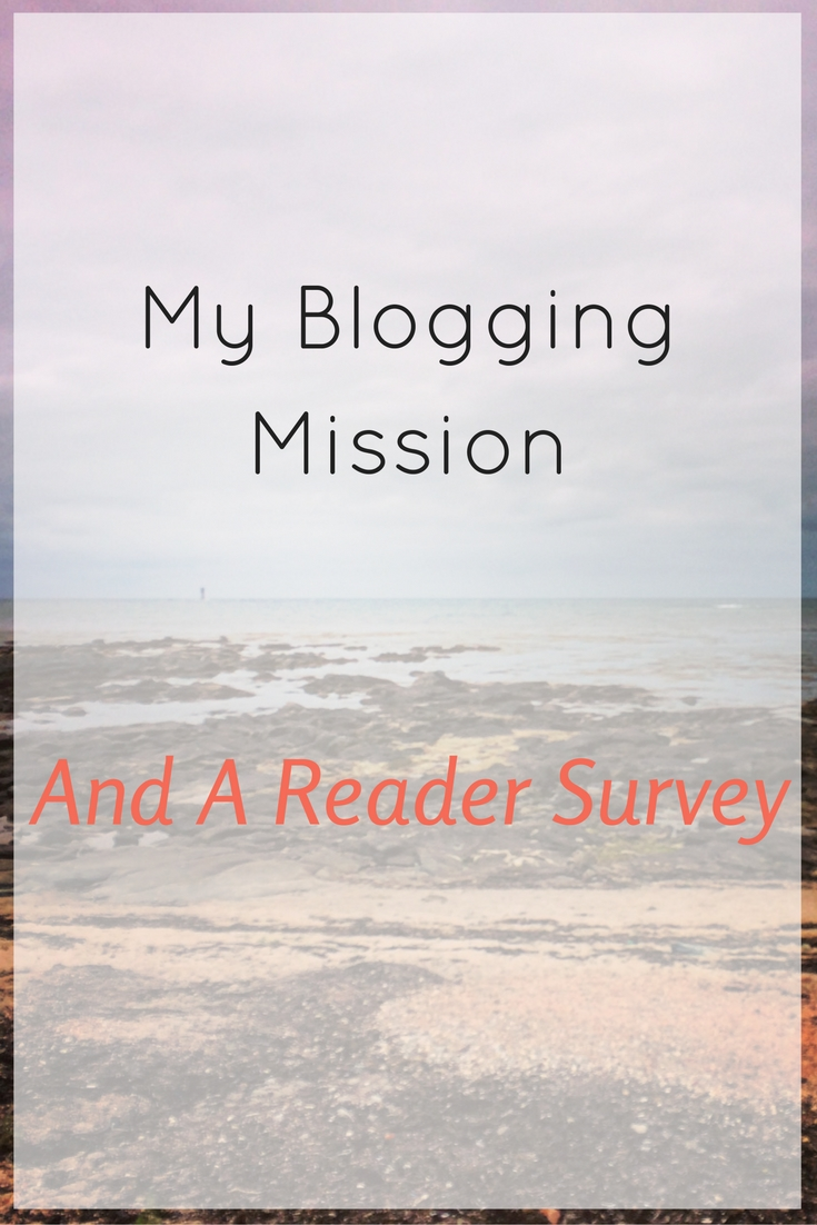 After a year of blogging I know what my mission is, but the reader survey will help mr improve it even more for me and for you.