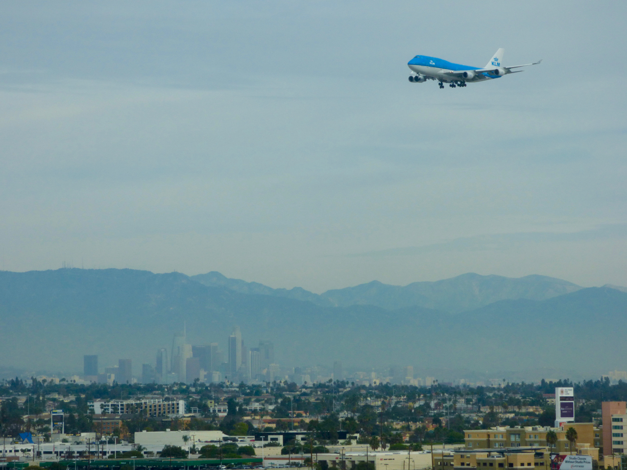 KLM Airplane LAX