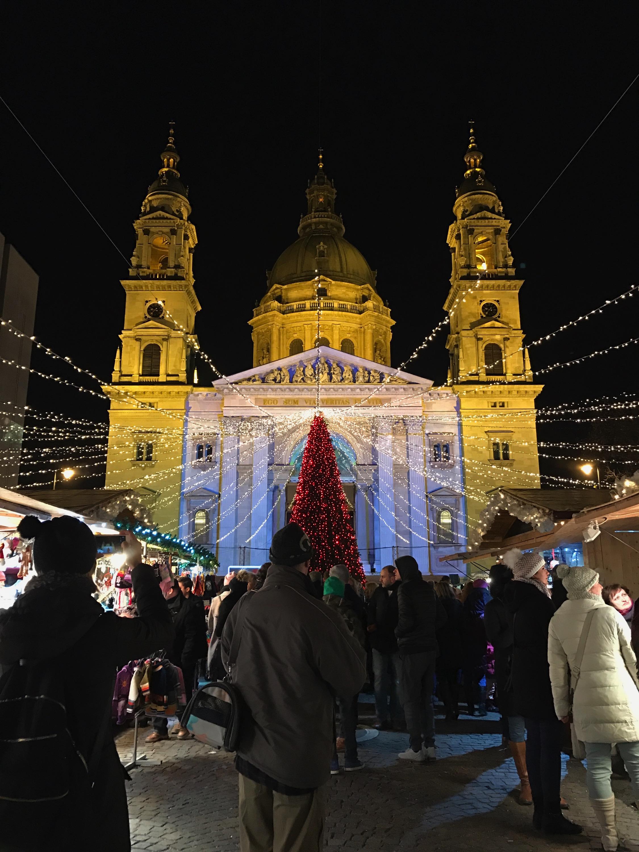 St. Stephen's Basilica Christmas Market Budapest, Hungary