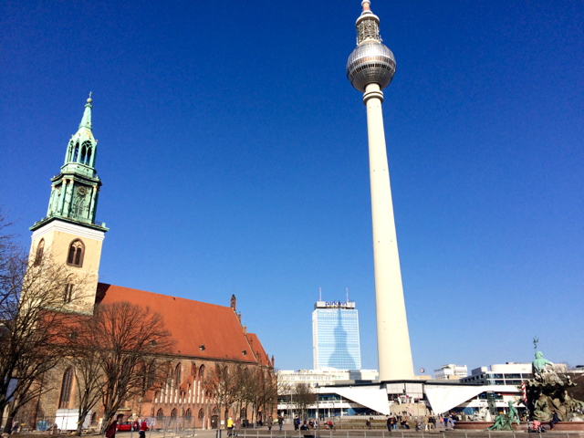 Alexanderplatz and Berlin TV Tower