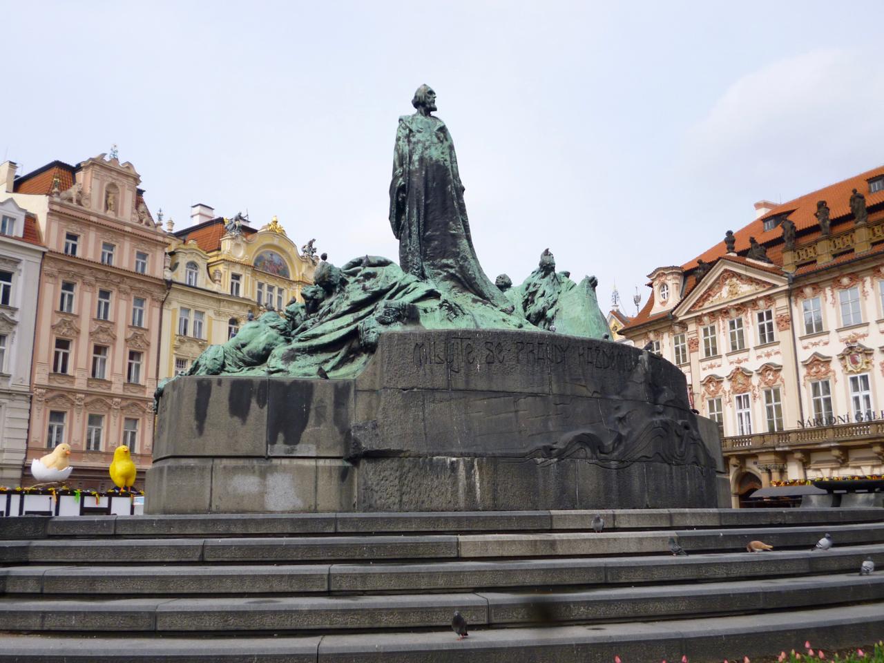 Statue in Prague square