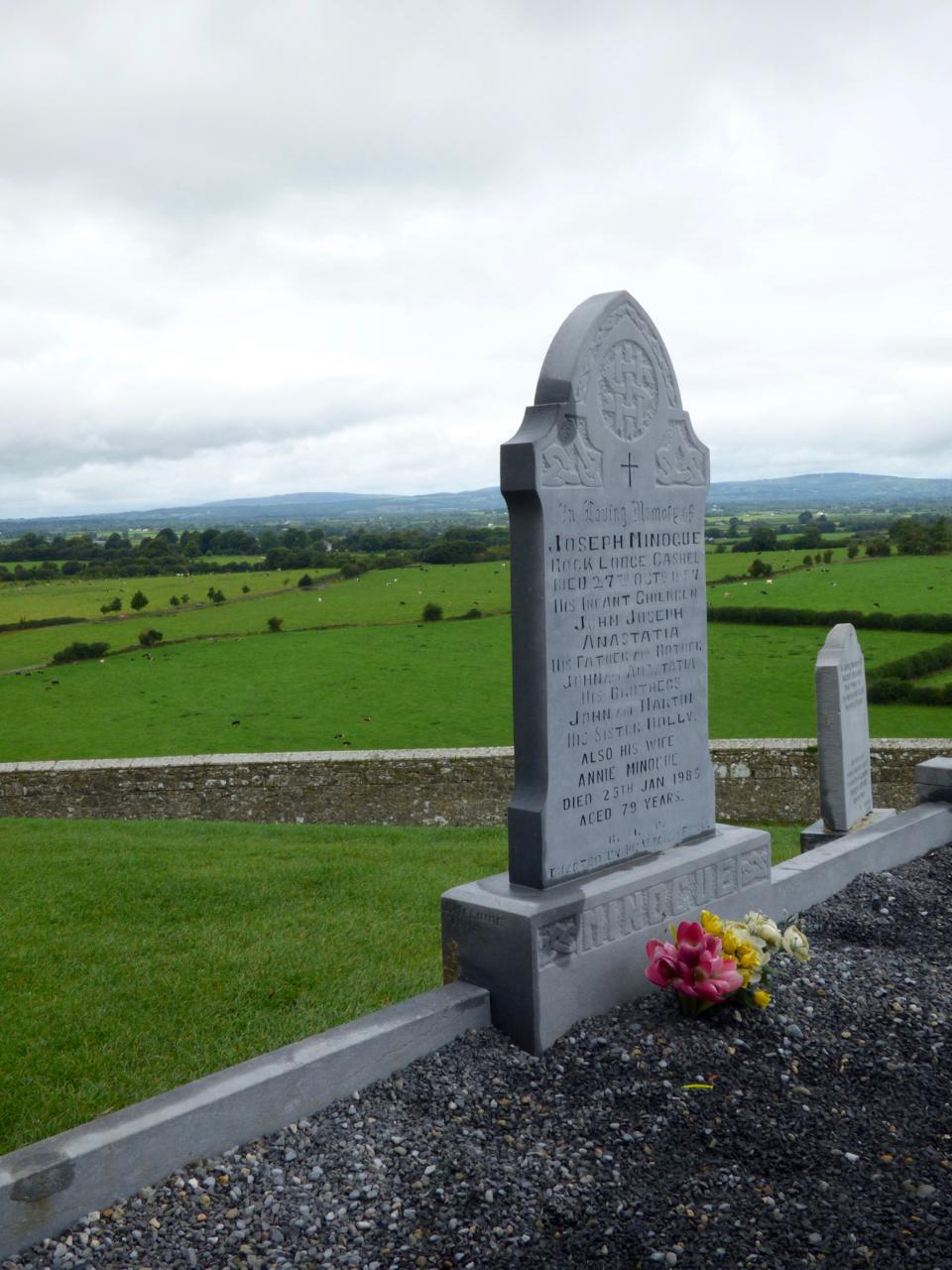 Rock of Cashel burial ground overlooking Golden Vale