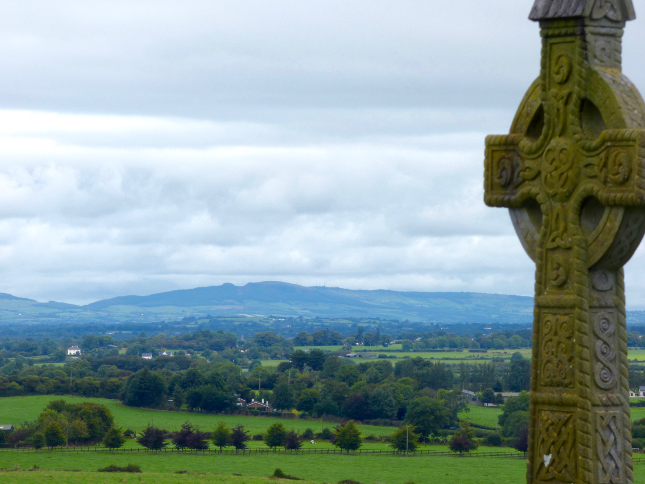 Devil's Bit Ireland, view from Rock of Cashel