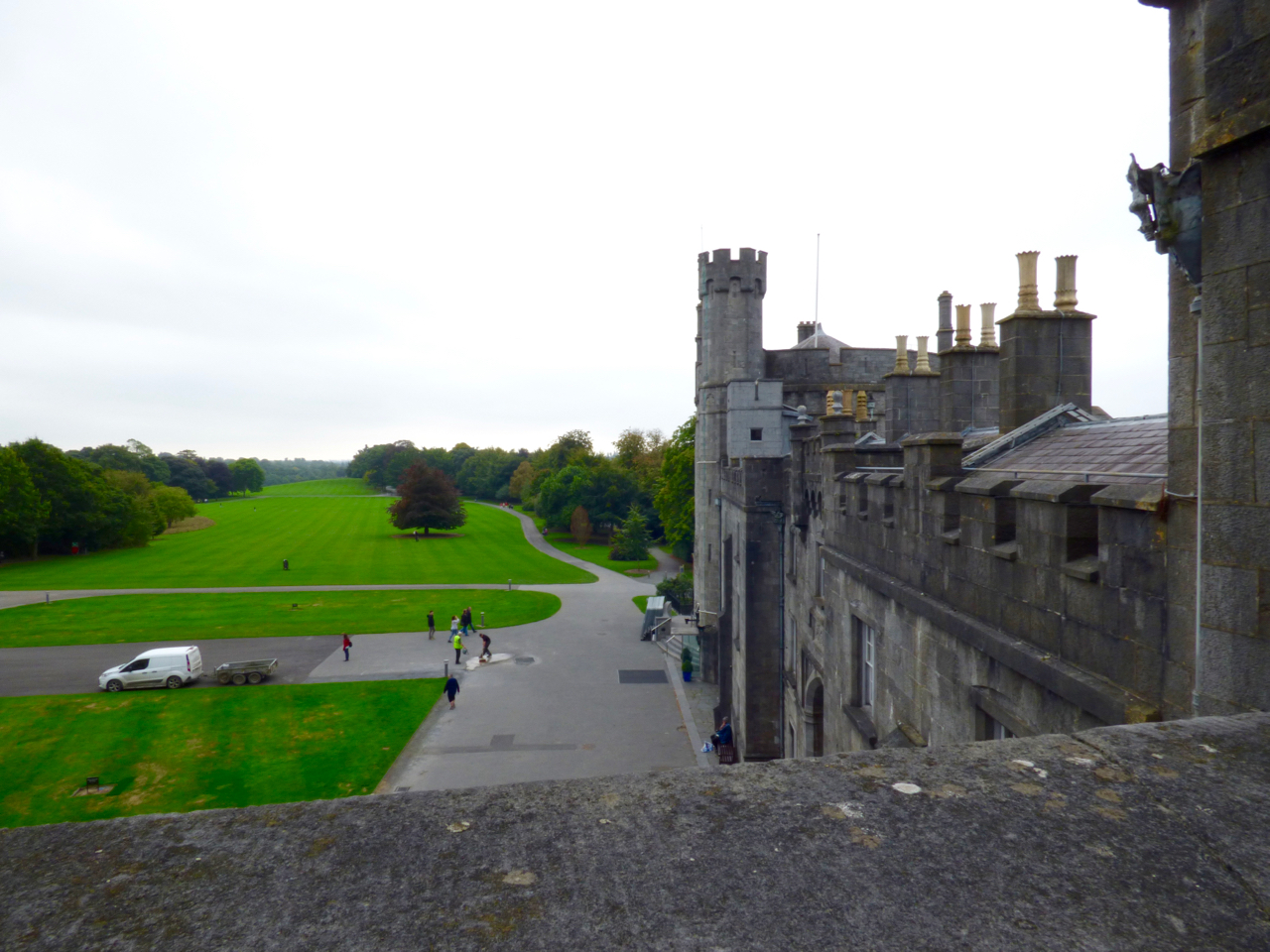 Kilkenny Castle Ireland looking out over lawn