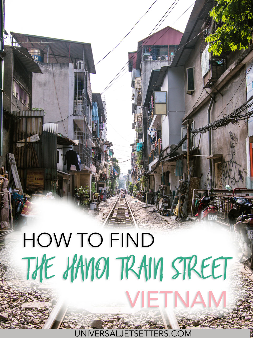 Nestled in the the Old Quarter is the Hanoi train street - a narrow alley where people live, but also where an active train line passes through twice a day.